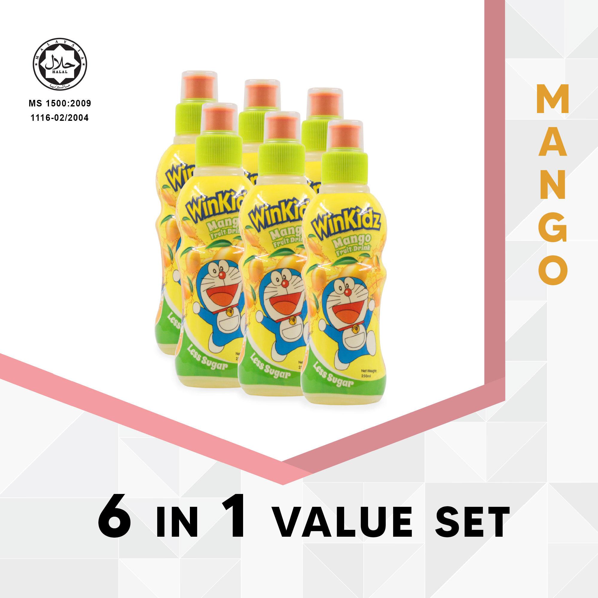 Doraemon Winkidz Fruit Drink 6 In 1 Value Set 250Ml X 6 - Mango