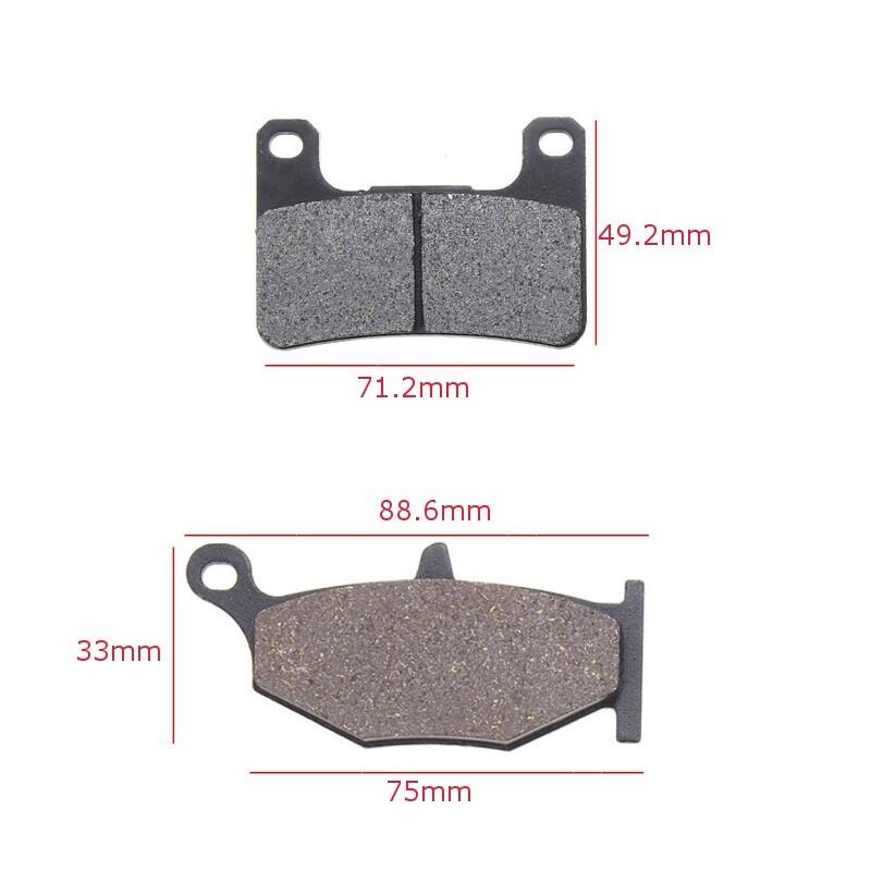 Moto Accessories - Black 2Pair Front 1Pair Rear Brake Pads SUZUKI GSXR 600 750 GSX-R - Motorcycles, Parts