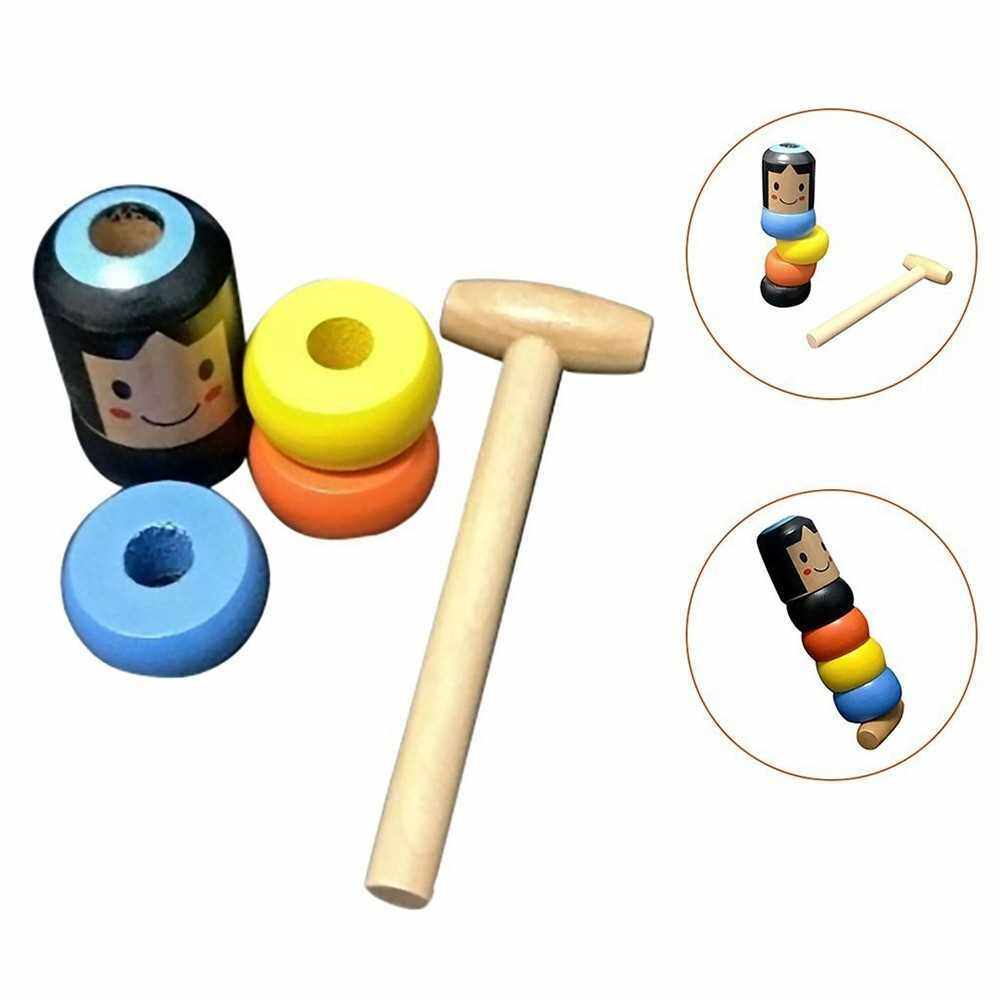 Unbreakable Immortal Daruma Magic Toy Magic Tricks Funny Wooden Toys Gifts (Standard)