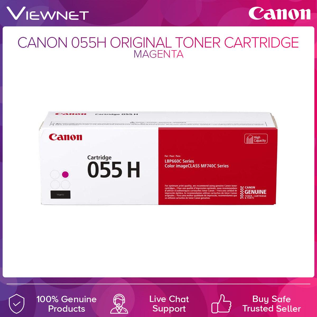 Canon 055H Original Toner Cartridge Black  Cyan  Magenta  Yellow