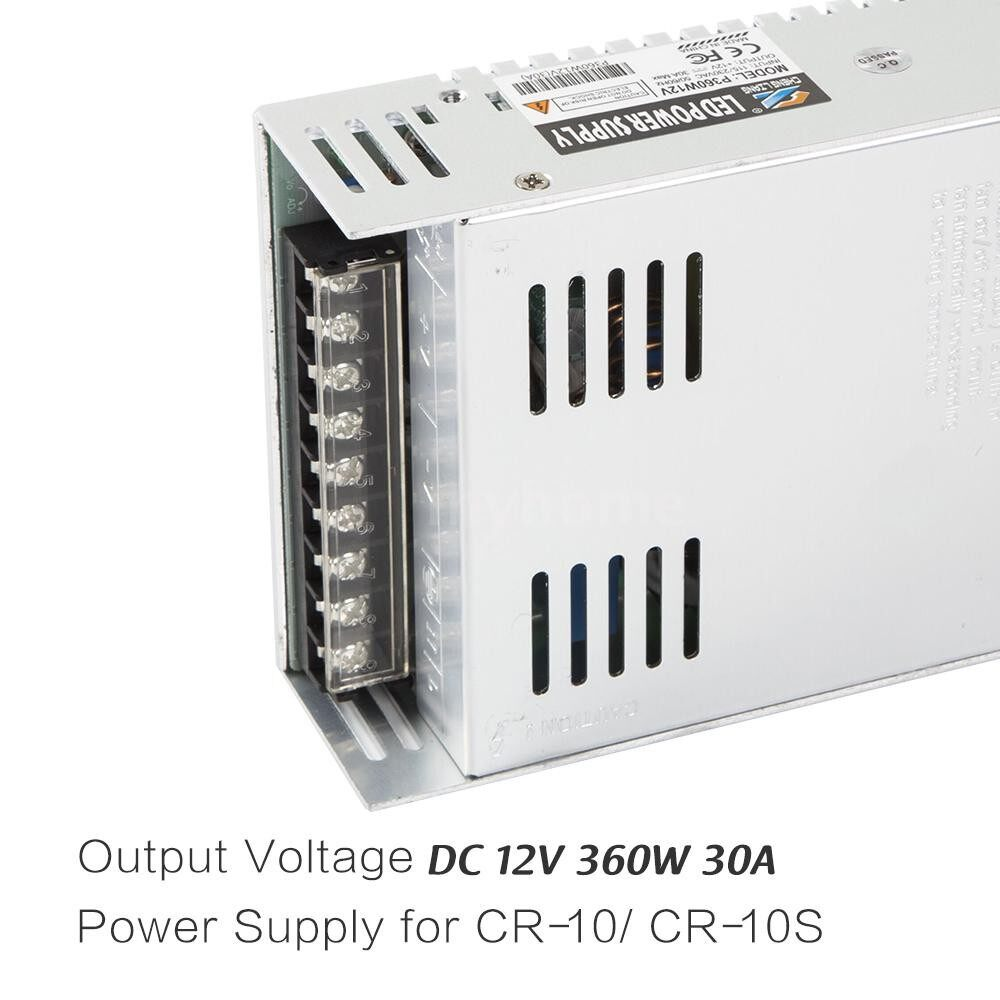 Printers & Projectors - DC 12V 360W 30A Universal Regulated Switching Mode Power Supply for Creality 3D Printer CR-10 - #