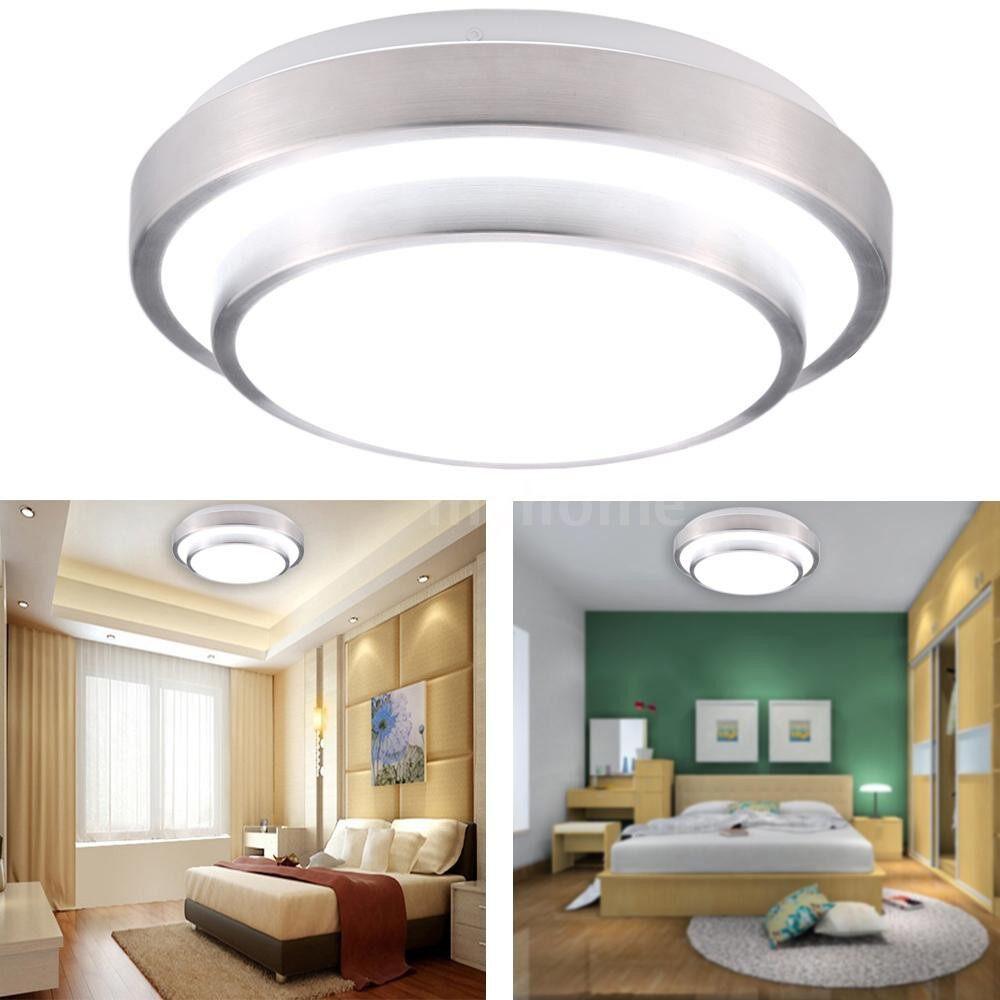 Lighting - 18W 110-240V LED Flush Mount Ceiling Light Modern Contemporary Lamp Fixture 1200LM 6000K for - #