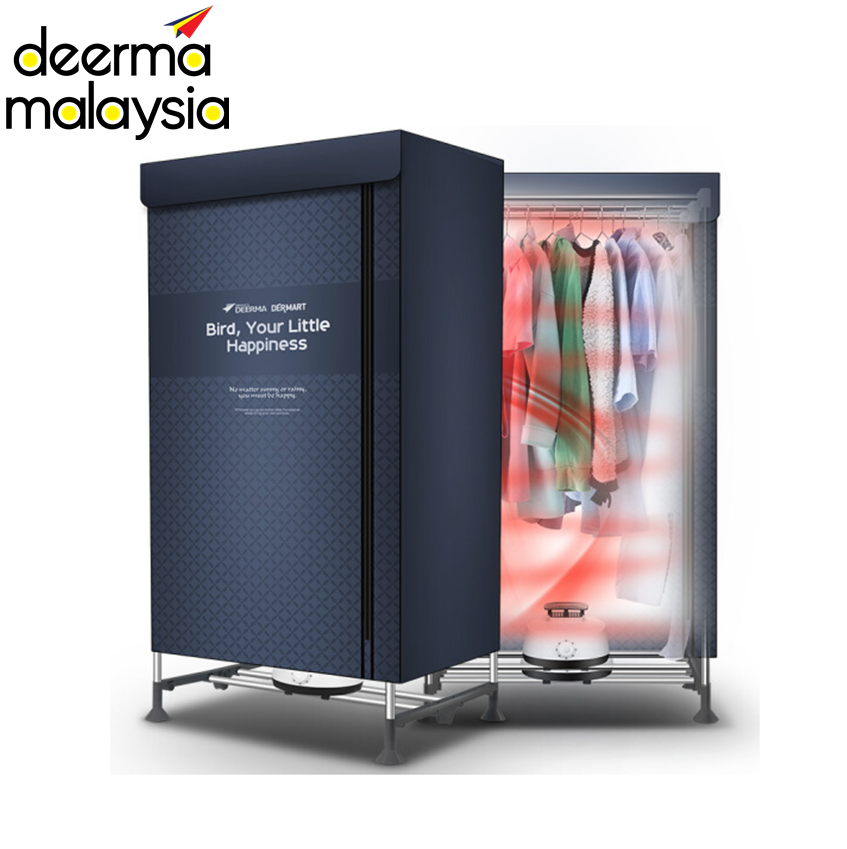 Deerma V2 Portable Rapid Clothes Dryer 2 Layer - Navy Blue