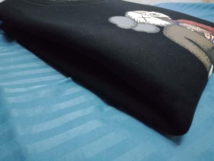 [Ready Stock] Uniqlo KAWS unisex fashion Long Sleeved BLACK