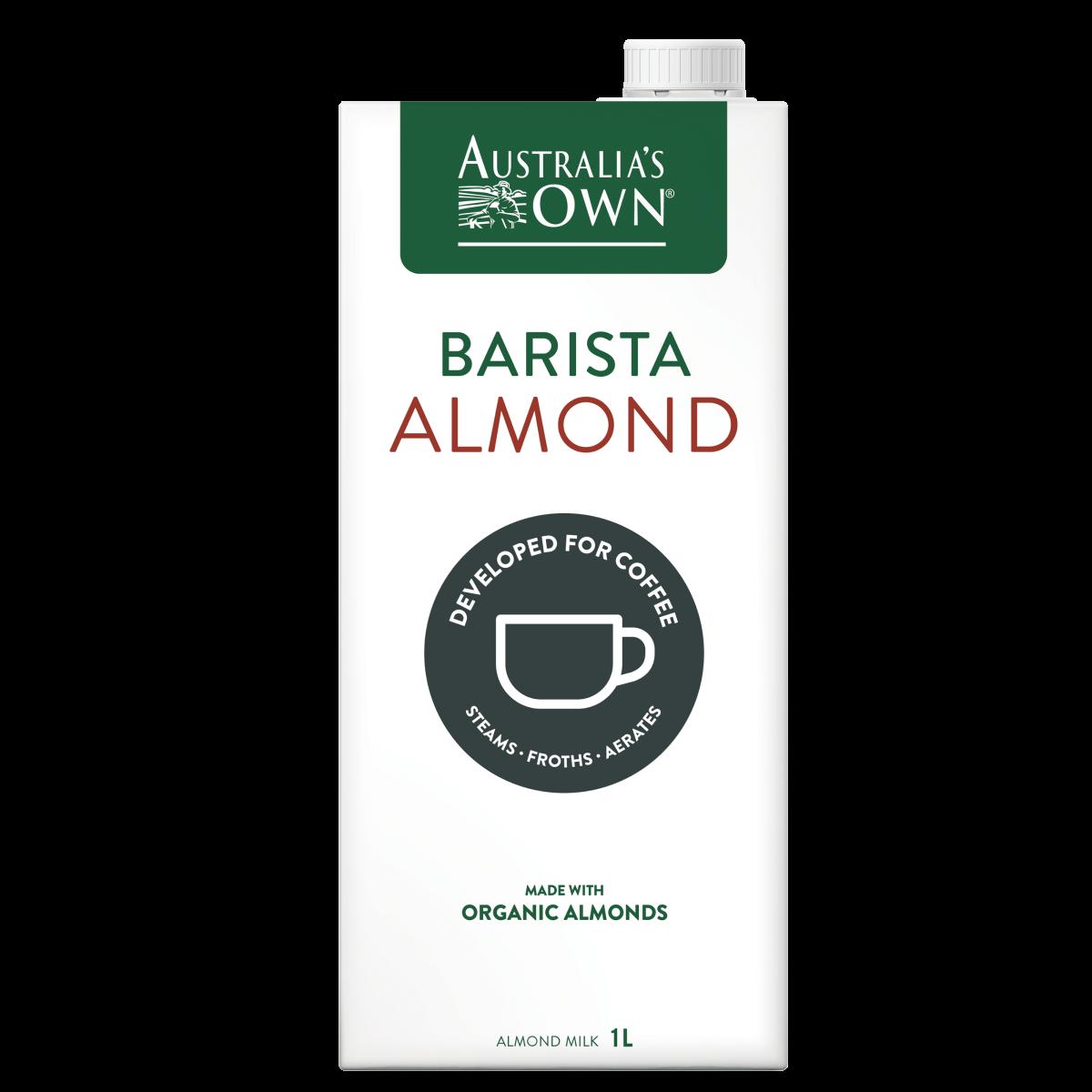 MILK Australia\'s Own Barista Almond Milk Organic (1L) EURO SNACKS