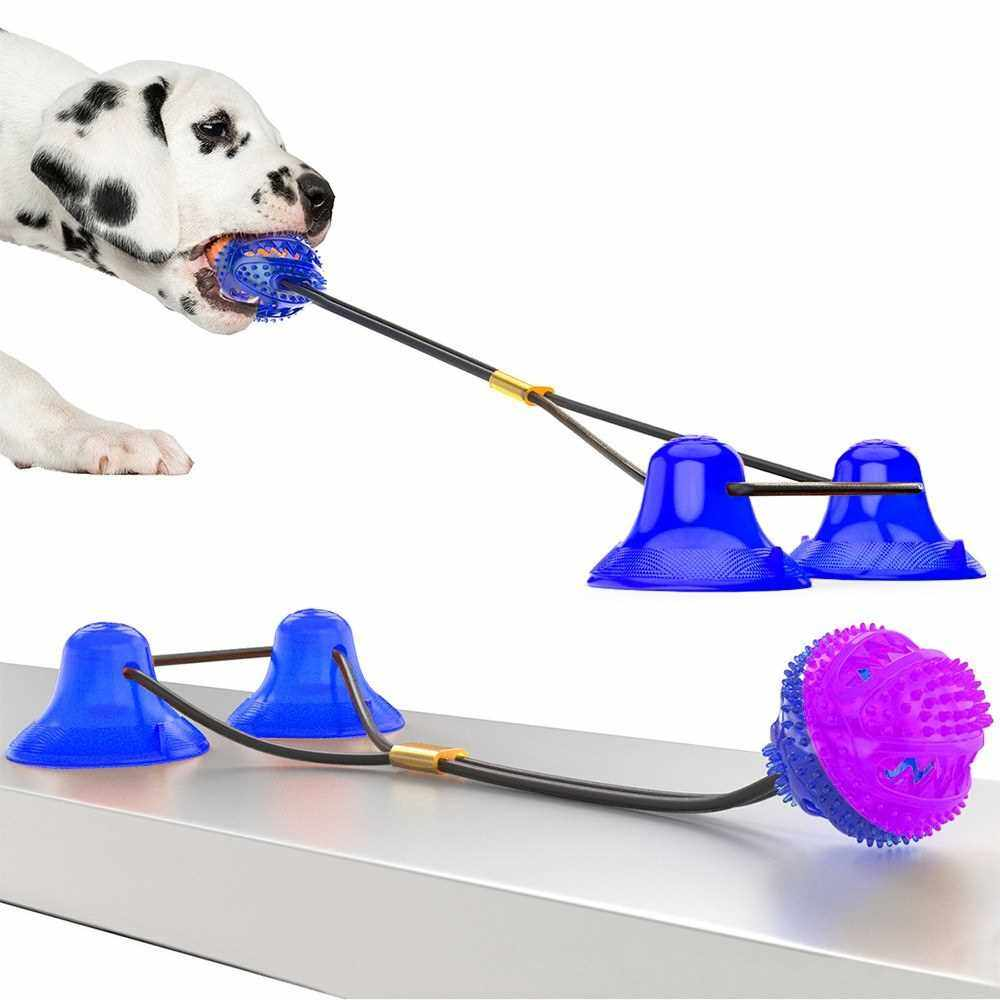 Dog Molar Bite Toy Dog Chew Toy Dog Rope Pull Interactive Toy with Suction Cup for Pulling Chewing Teeth Cleaning (1)
