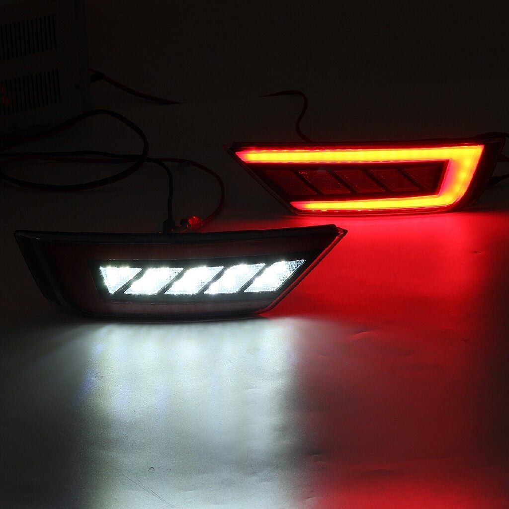 Car Lights - Pair LED Rear Tail Bumper Reflector Brake Light Lamp For Ford Ecosport 2013- Replacement Parts