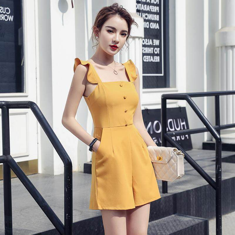 (Pre Order14 Days JYS Fashion Korean Style Women Jumpsuit Collection -5293820col529-3820--Yellow -XL
