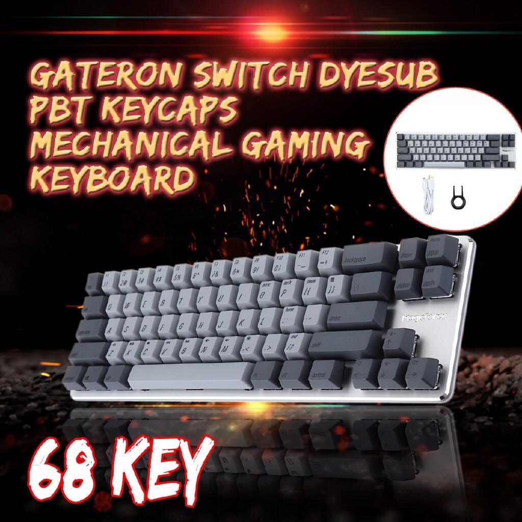 Gaming Keyboards - ORIGINAL Magicforce Smart68 Gray 68 Key Mechanical Gaming Keyboard Gateron Switch Dyesub - RED SWITCH / BROWN SWITCH / BLUE SWITCH