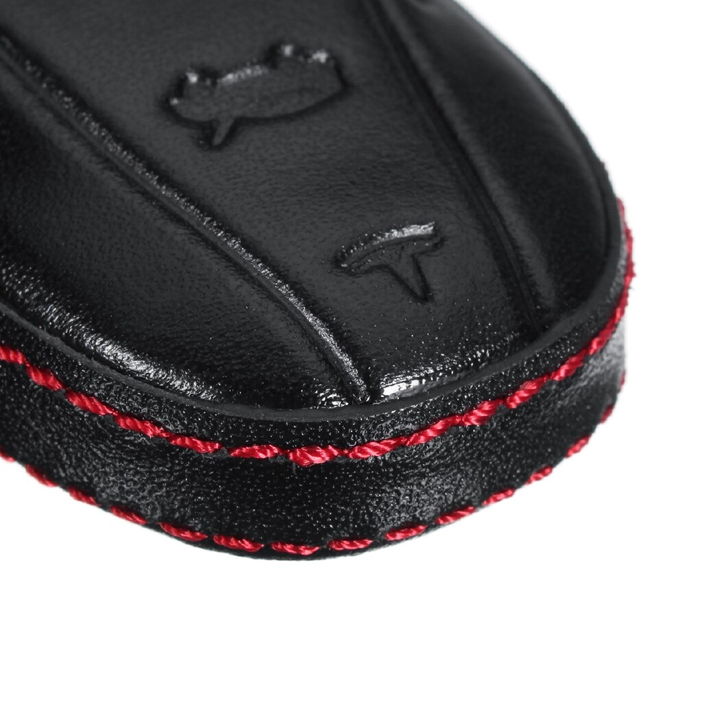 Automotive Tools & Equipment - 3 Buttons PU Leather Fob Remote Key Shell Case Cover Holder For Tesla Model S - Car Replacement Parts