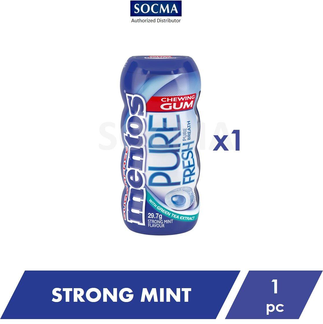 Mentos Pure Fresh Pocket Bottle Gum Strong Mint 29g [1]