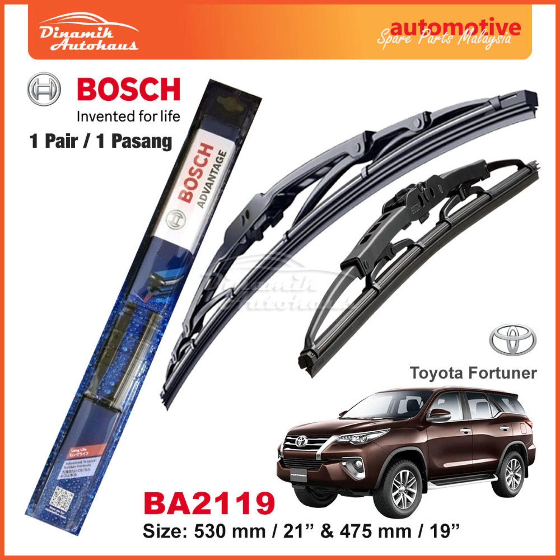 "Toyota Fortuner Car Windshield Wiper Blade 21"" / 19"" Bosch Advantage BA2119"