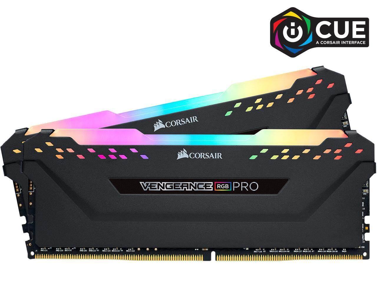 Corsair Desktop DDR4 Vengeance RGB PRO PC3200 (2x16GB) 32GB RAM (CMW32GX4M2E3200C16) BLACK