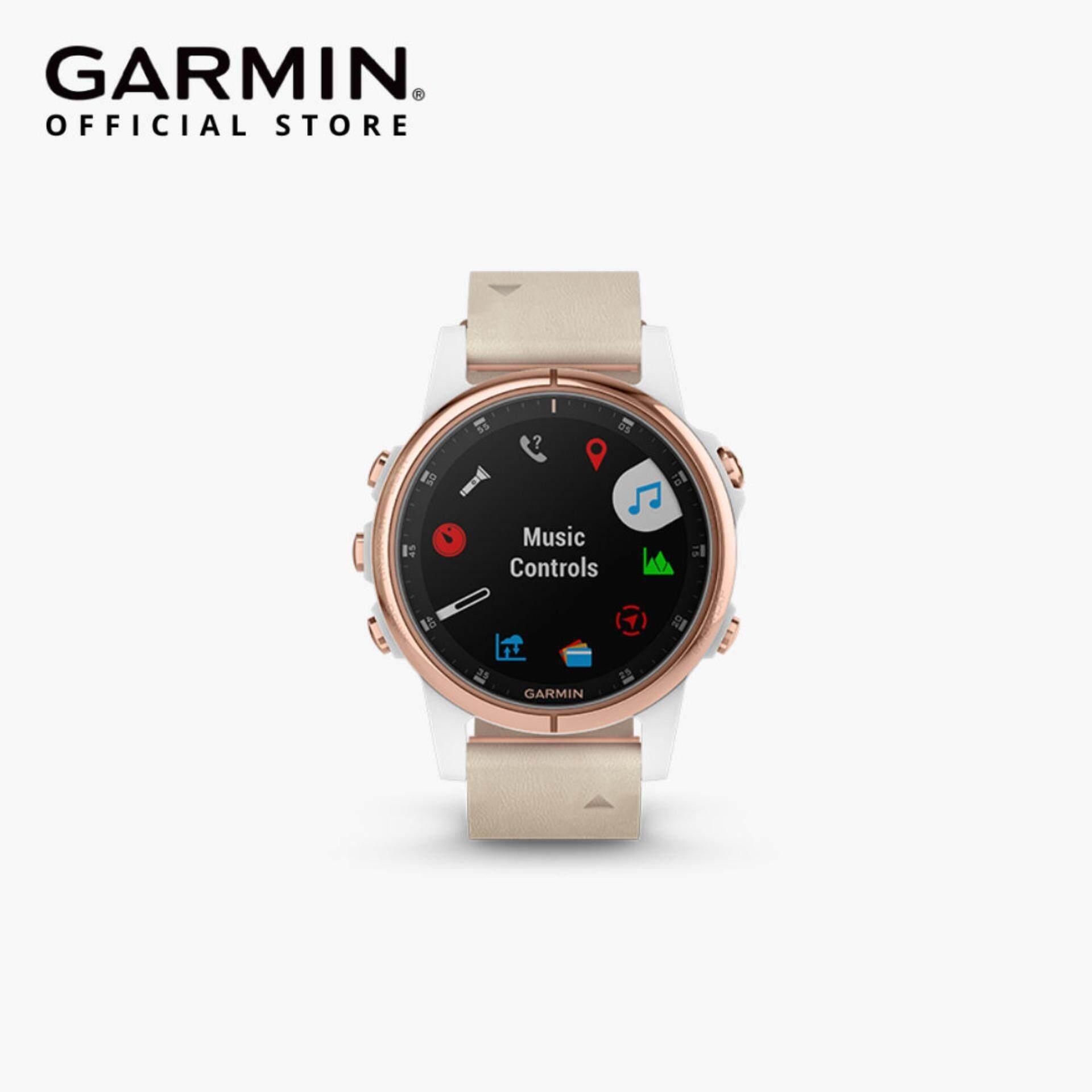 GARMIN FENIX 5S PLUS SAPPHIRE MULTISPORT GPS SMARTWATCH - ROSE GOLD/BLACK