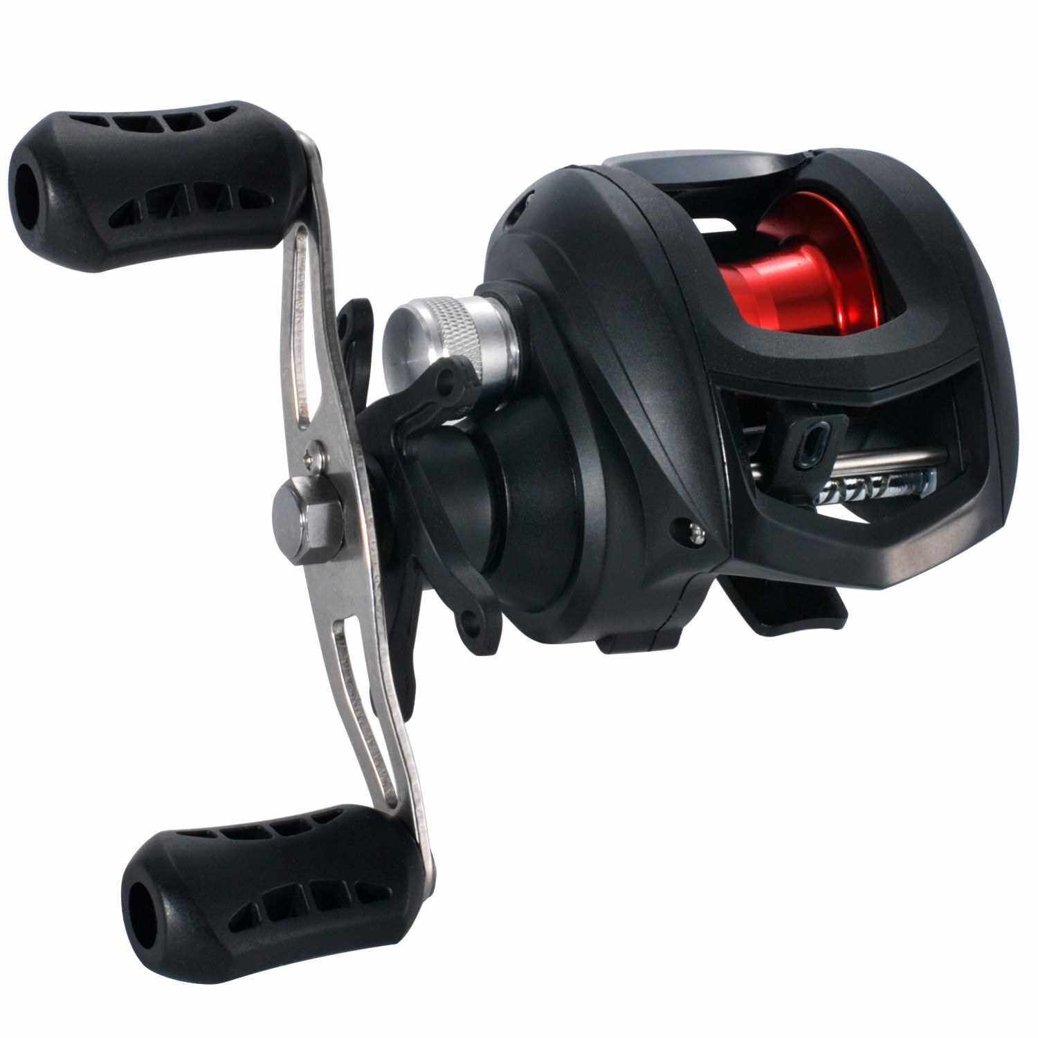 Best Selling High Speed 7.2:1 Gear Ratio Baitcast Fishing Reel 17+1 Ball Bearings Baitcasting Fishing Reel Baitcaster Tackle (R)