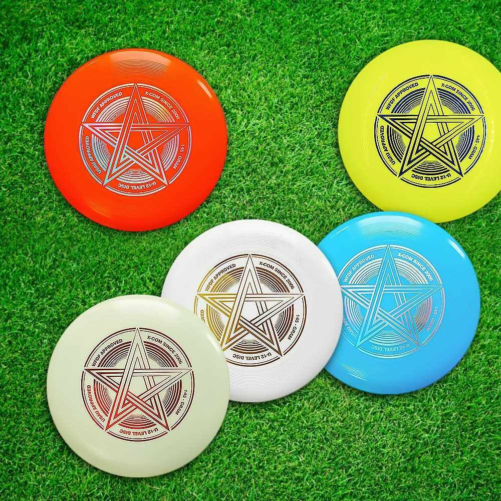 Best Selling 9.8 Inch 145g Plastic Flying Discs Outdoor Play Toy Sport Disc for Juniors (Yellow)