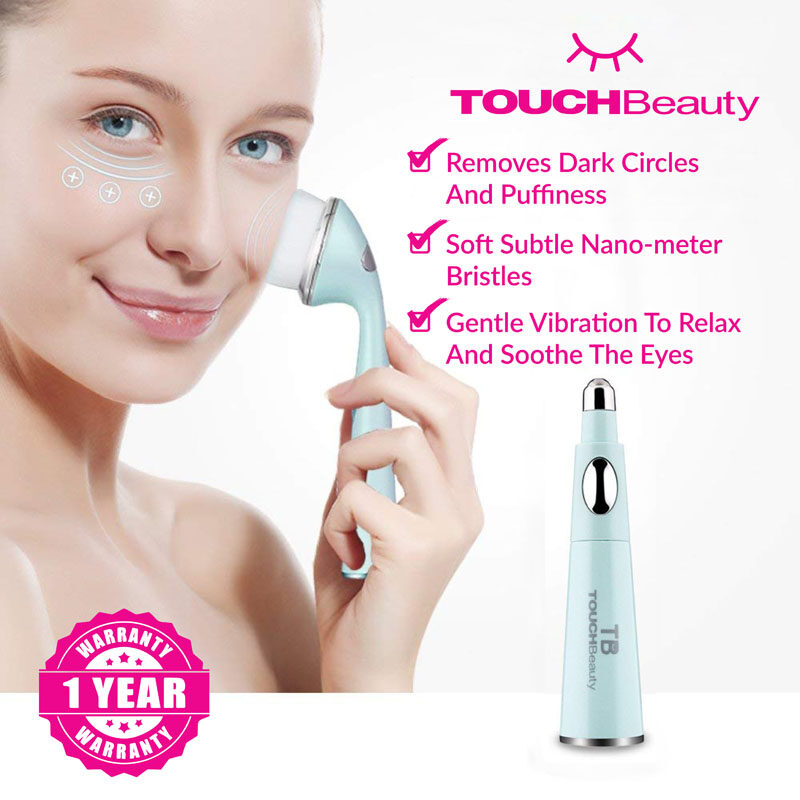 TOUCHBeauty Sonic Facial Brush TB-1581 2 in 1 Facial Cleansing machine/skin care and Anti-Ageing Wrinkle Eye Massager removes dark circles and puffiness around our eyes
