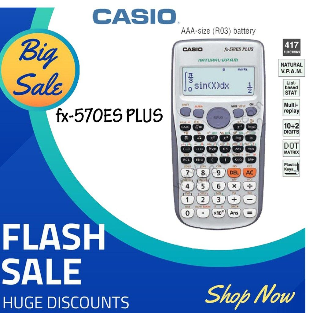 C'asio Scientific Calculator FX-570ES PLUS (Unbeatable Low Price) Very Fast Shipping