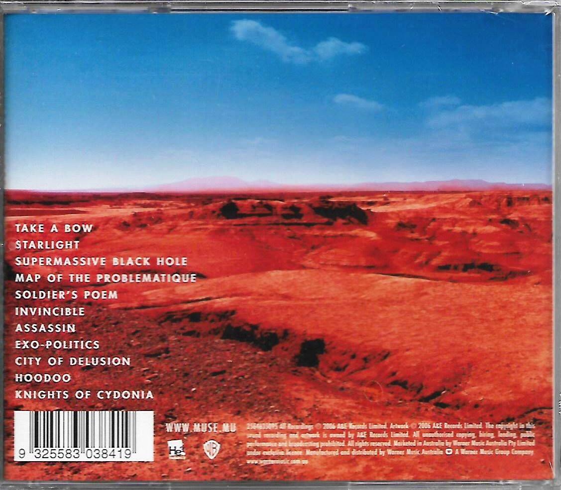 MUSE Black Holes And Revelations Imported CD Australia Pressed Original New And Sealed