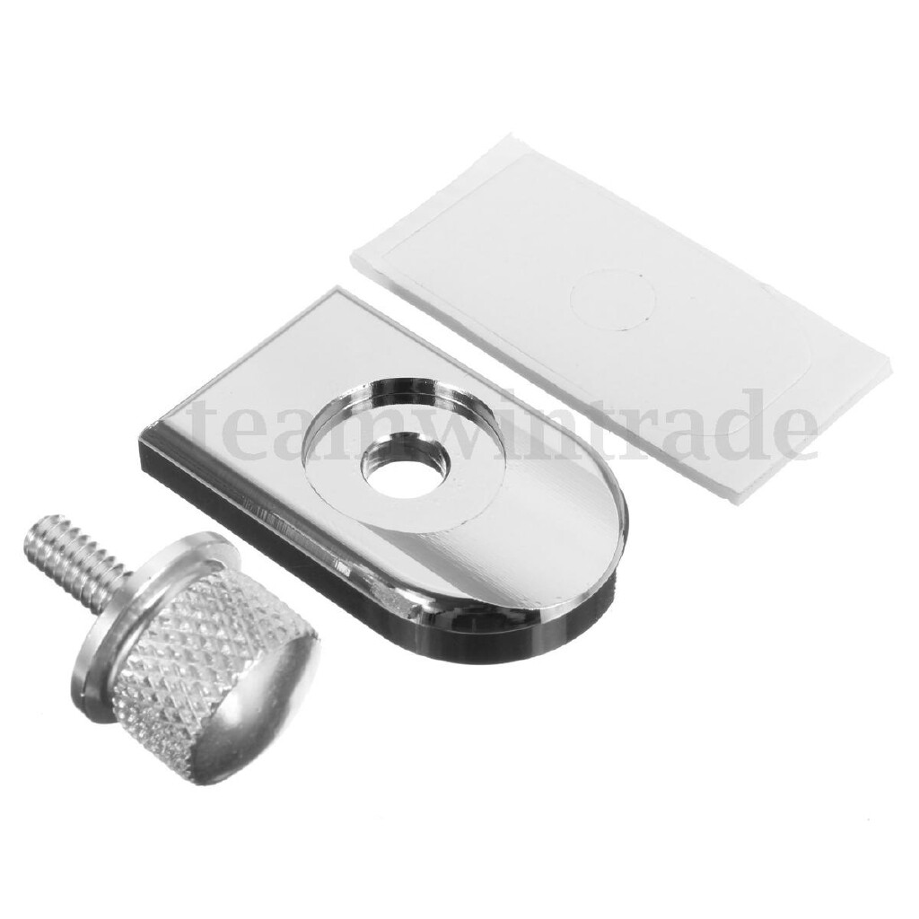 Moto Accessories - 1 Piece Aluminium Seat Bolt Tab Screw Mounting Knob Cover For Harley Fatboy Road - BLACK / SILVER