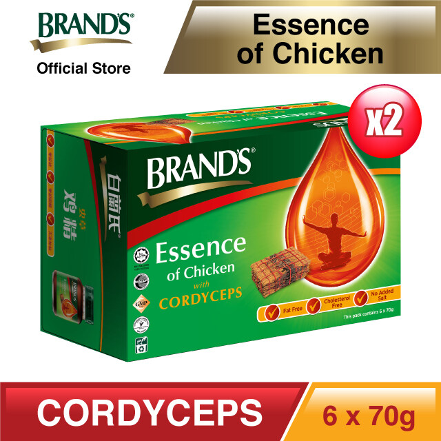 BRAND'S® Essence of Chicken with Cordyceps Twin Pack (6's) - 12 bottles x 70gm