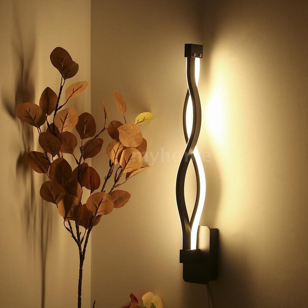Outdoor Lighting - AC 85-265V / 50-60Hz LEDs Bedside Sconces Wall Lamp 16W Vanity Lights Modern Bathroom Dresser - WHITE-WHITE LIGHT / WHITE-WARM WHITE / BLACK-WHITE LIGHT / BLACK-WARM WHITE