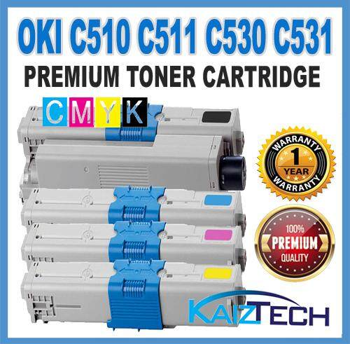 OKI / Okidata CYMK (4 Units)  C510 / C511 / C530 / C531  Premium Compatible Toner