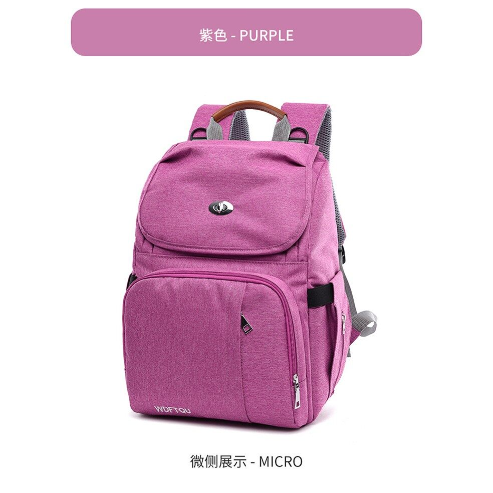 Large Capacity Multi function Mummy Maternity Diaper Bag With Bottle Insulation & USB port