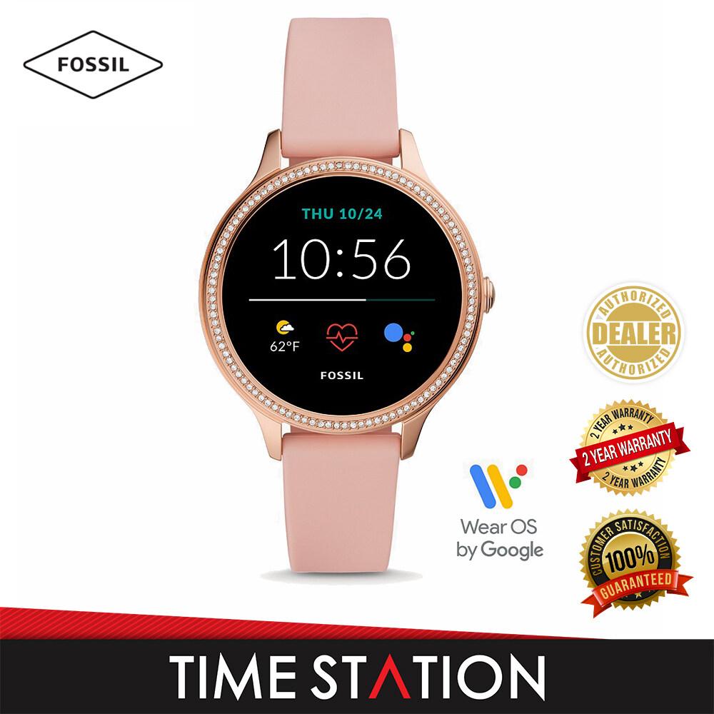 Fossil Gen 5E Blush Silicone Women's Smart Watch FTW6066