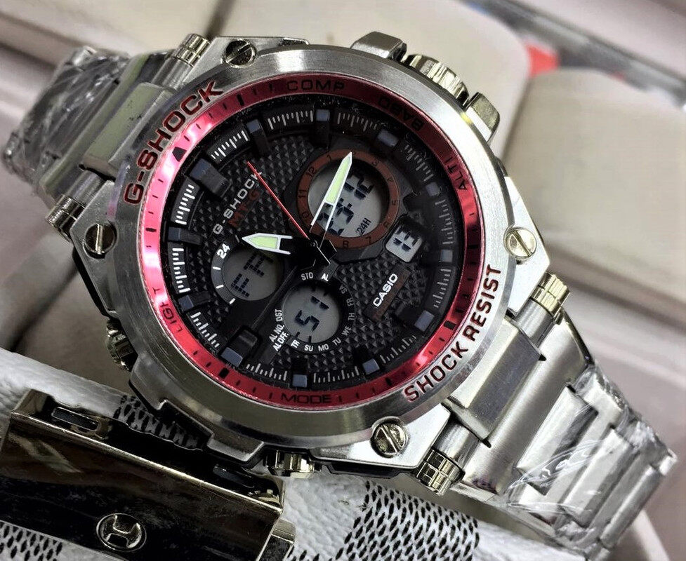 Sports Watch Casio_G_SHOCK_Dual Time Display Fashion Casual Watch For Men Ready Stock 100% Mineral Glass New Design