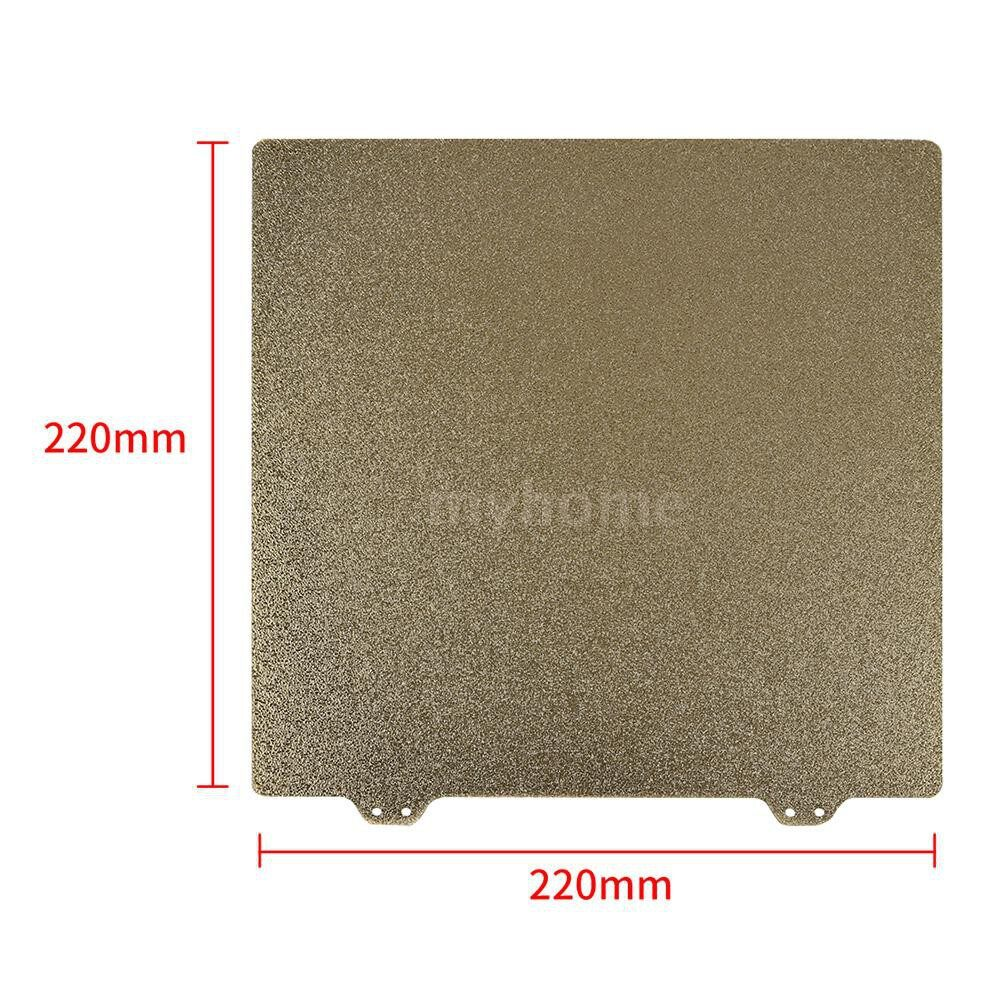 Printers & Projectors - 220mm 3D Printer Hotbed Accessories Double Layer Texture PEI Powder Steel Plate + 6 Magnetic Block - Computer & Accessories