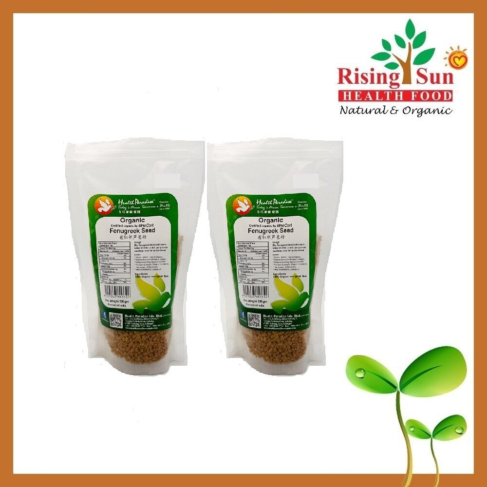 Health Paradise Organic Fenugreek Seed 250Gm - Twin Pack