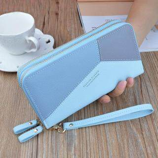 Hot Sale Lady Zipper Clutch PU Leather Coin Purse Long Wallet Large Capacity Double Layer Wallet Mobile Phone Small Bag thumbnail