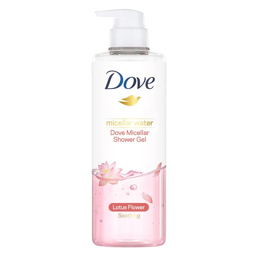 DOVE Micellar Water Soothing Shower Gel 500ml - Lotus Flower