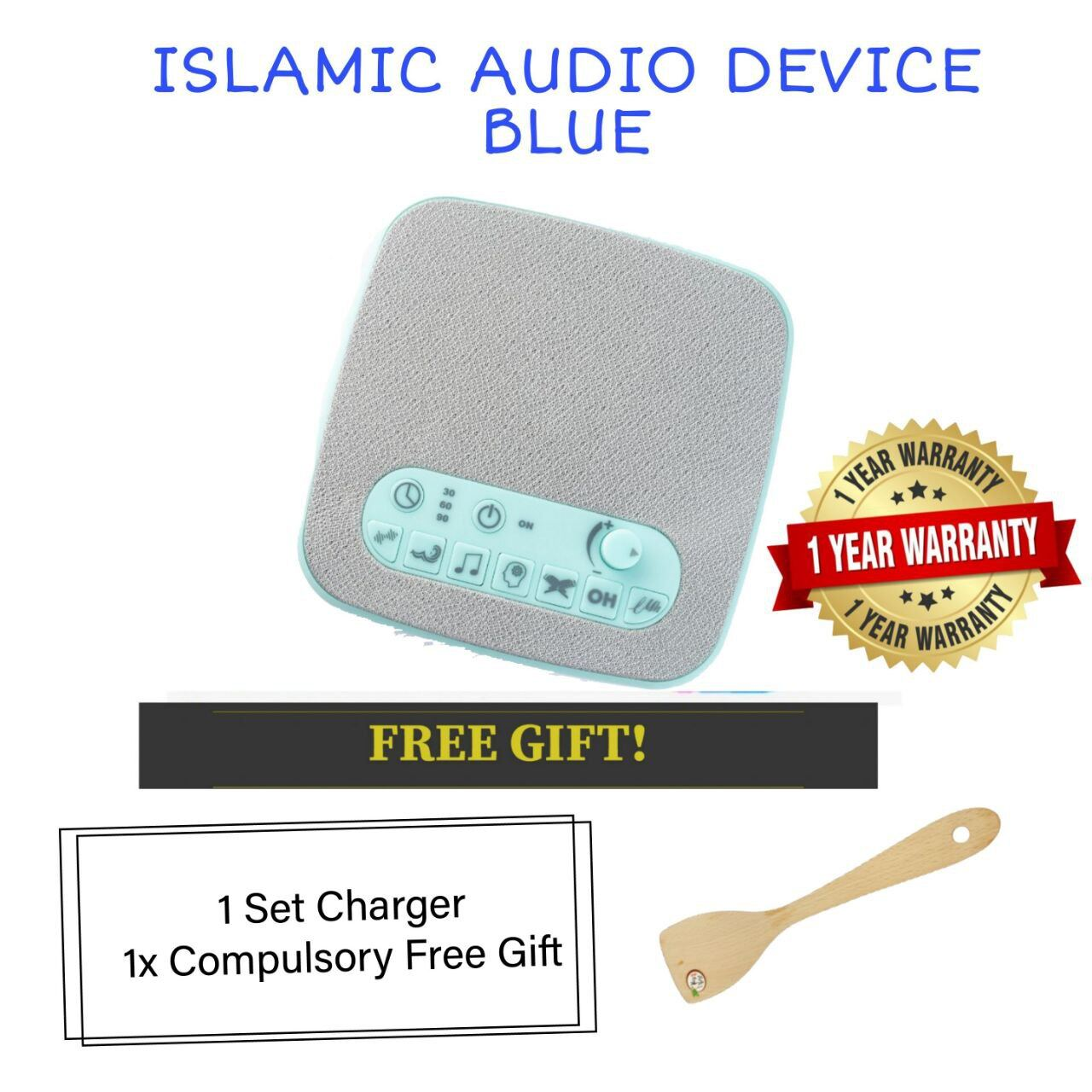 (READY STOCK) ISLAMIC AUDIO DEVICE MOMMYHANA X OMAR HANA (BLUE) (9)