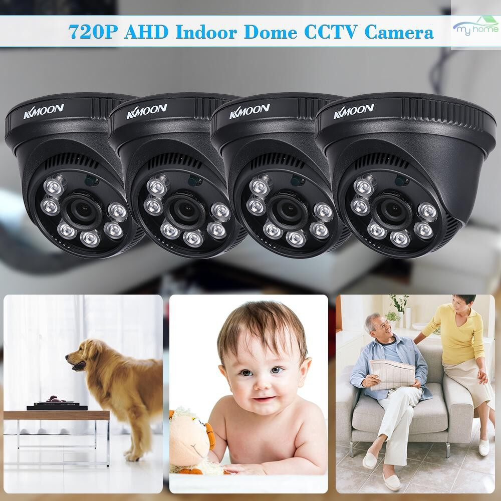 Monitors - 4720P AHD Dome IR CCTV Camera + 460ft Surveillance Cable Support IR-CUT Night Vision 6 PIECE(s) - Computer Accessories