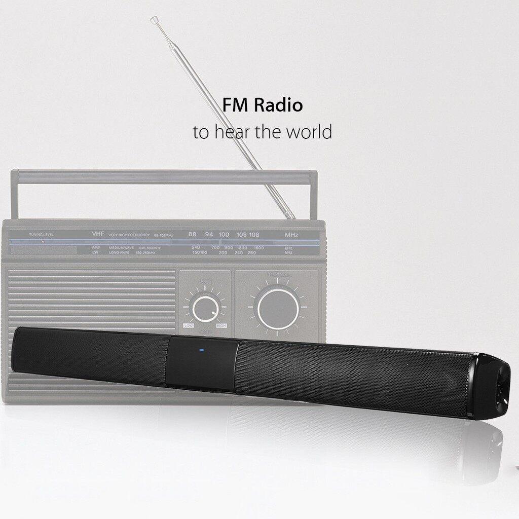 Soundbars - 4 Horn 20W WIRELESS BLUETOOTH Soundbar Stereo HiFi Home Theater Speaker Subwoofe - Home Entertainment