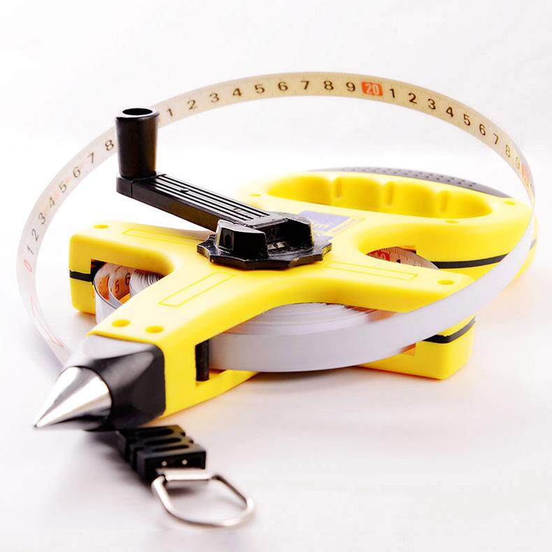 30m/100m Stainless Steel Metric Measuring Tape Retractable
