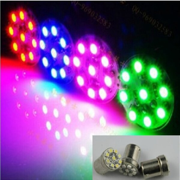 Moto Accessories - Motorcycle Accessories 9 SMD Hightlight LED Turn Signal Light - PINK / RED / GREEN