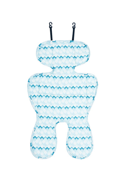 AIR+ Cool Seat Liner -For car seats & strollers - Blue Building Blocks  ZK-19015