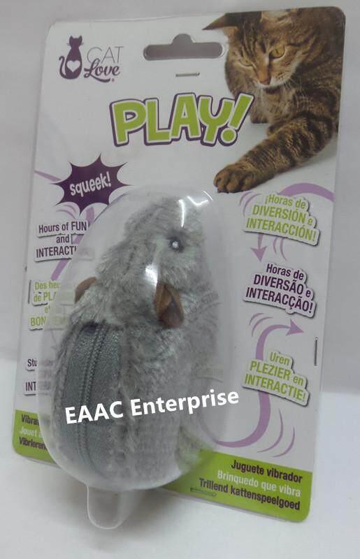 Cat Love Play Vibrating Mouse Toy Mainan Kucing Tikus