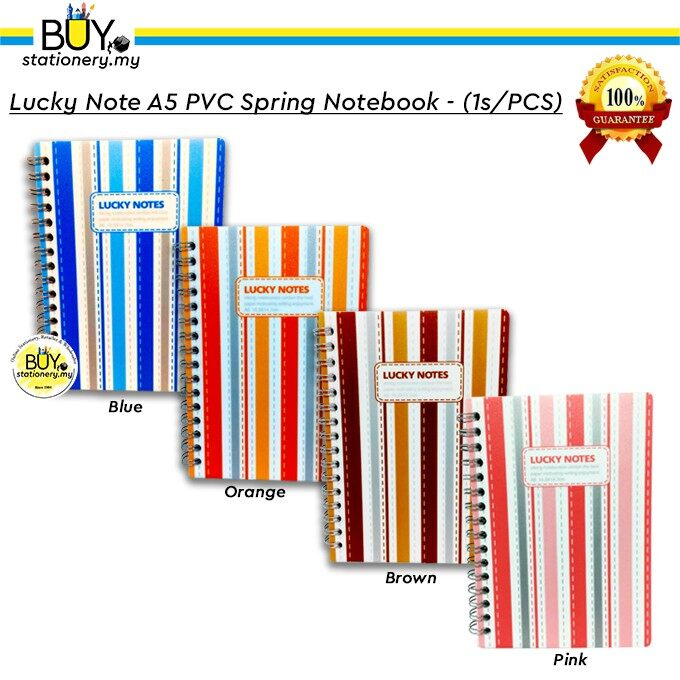Lucky Note A6 PVC Spring Notebook - (1s/PCS)