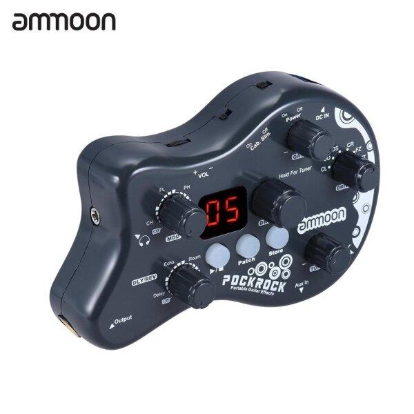 Ammoon PockRock Bàn Đạp Hiệu Ứng Xử Lý Đa Hiệu Ứng Cho Guitar Cầm Tay 15 Loại Hiệu Ứng 40 Chức Năng Điều Chỉnh Nhịp Điệu Trống Với Bộ Chuyển Đổi Nguồn, Xám Đậm Phích Cắm Kiểu Anh