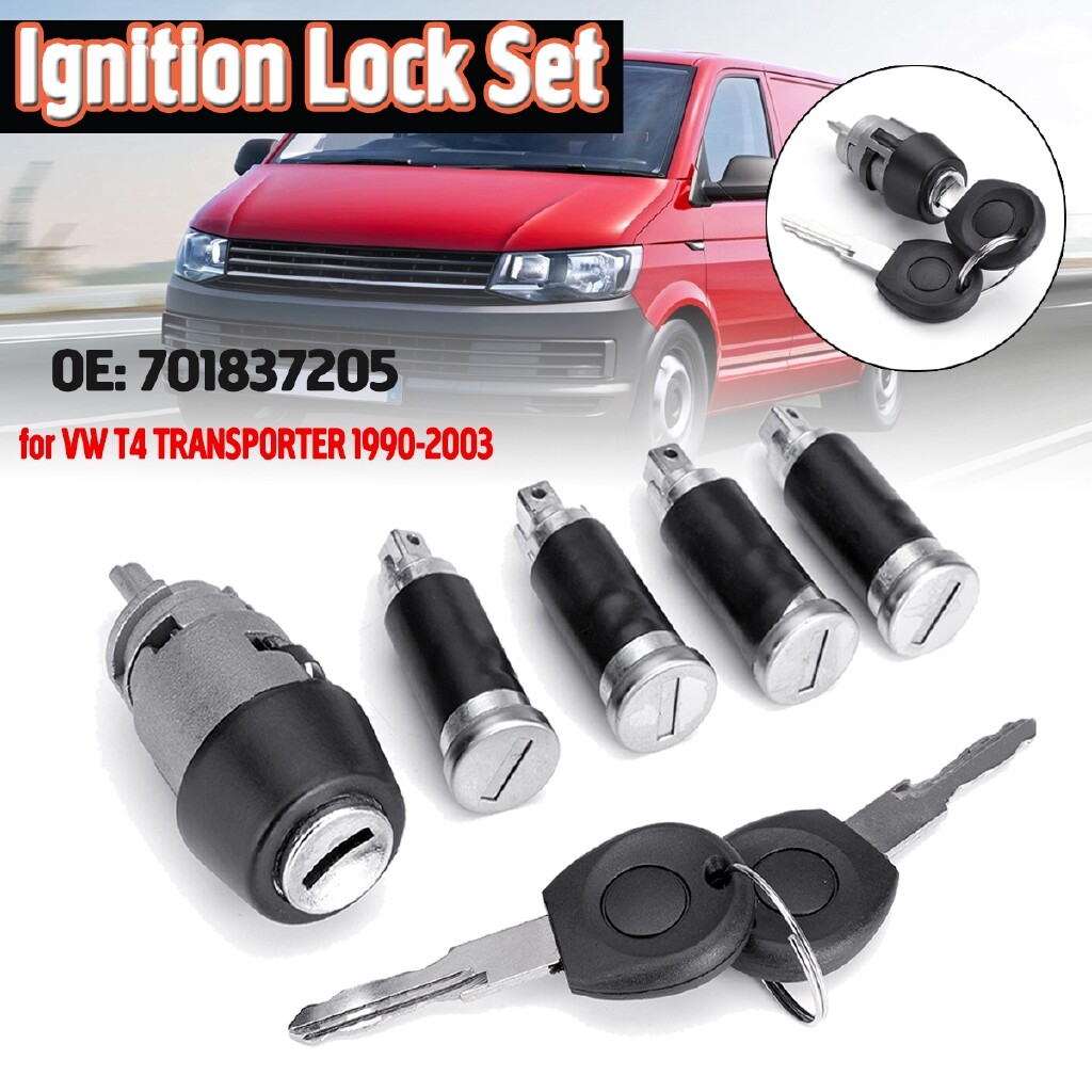 Automotive Tools & Equipment - Ignition Switch Lock Barrel+4 Door Lock SET For Vw Transporter Mk4 T4 Caravelle - Car Replacement Parts