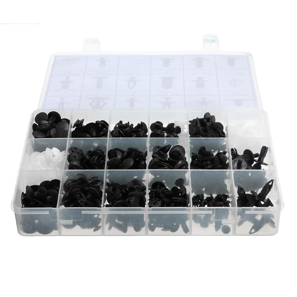 Automotive Tools & Equipment - 415pc Trim Clips Assortment Tools Retaining Grommet Garage Fastener for Ford Car - Car Replacement Parts
