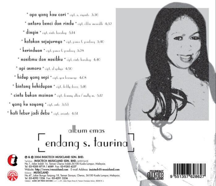 Endang S Taurina Album Emas CD Hits Terbaik