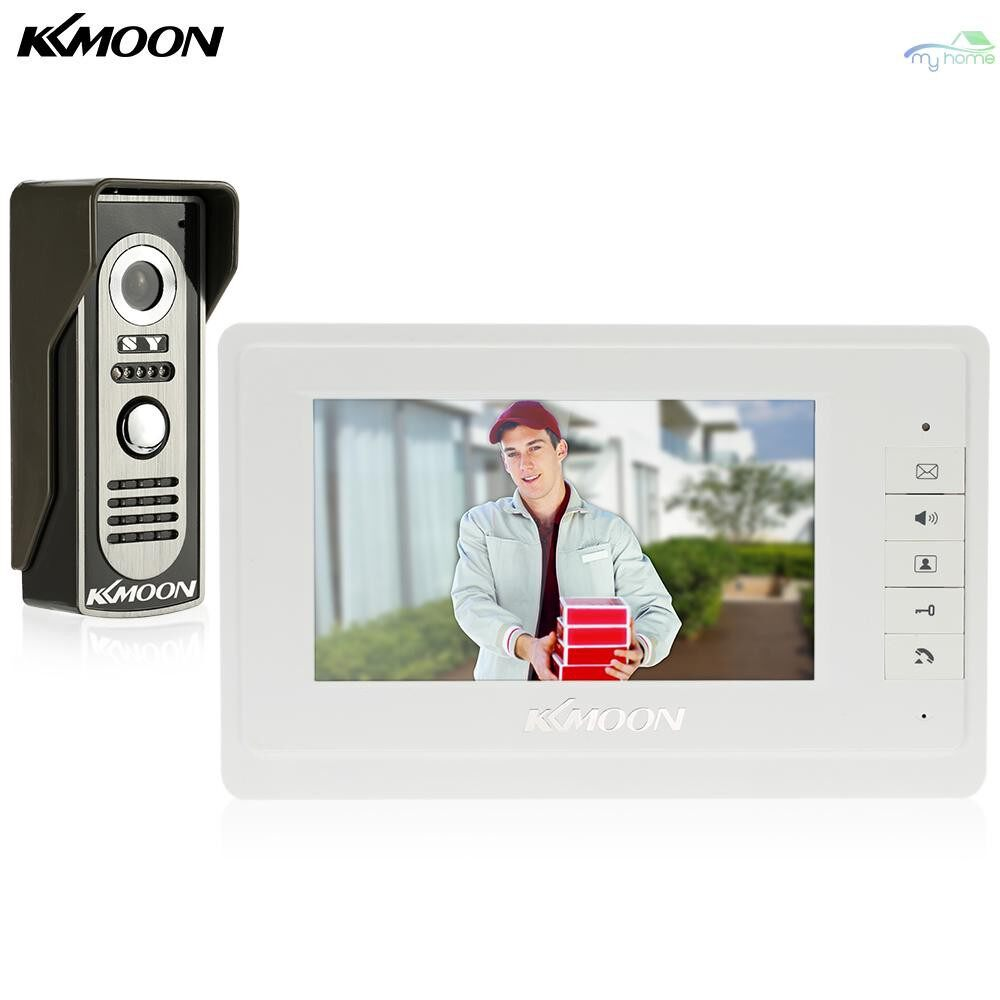 DIY Tools - 7 Wired Video Door Phone System Visual Intercom Doorbell with 1800x480 Indoor Monitor + - Home Improvement