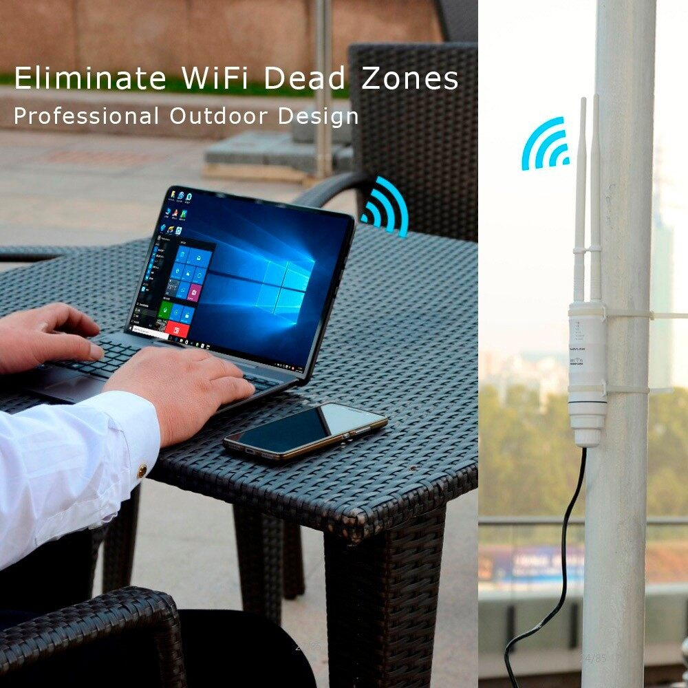 Modems & Routers - Wavlink High Power Weatherproof WIRELESS WiFi Router/Access Point/ AP Repeater - Network Components