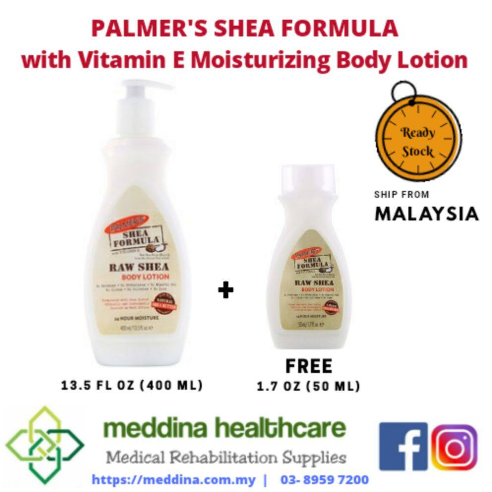Palmer's, Shea Formula with Vitamin E, Moisturizing Body Lotion, 13.5 fl oz (400 ml) + (50ml)