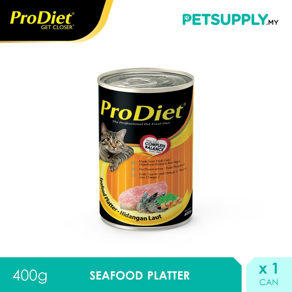 ProDiet 400G Seafood Platter Wet Cat Food [makanan kucing PETSUPPLY.MY]